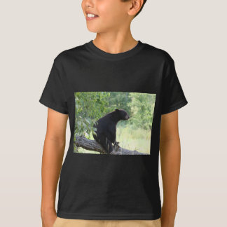 black bear sitting in tree T-Shirt