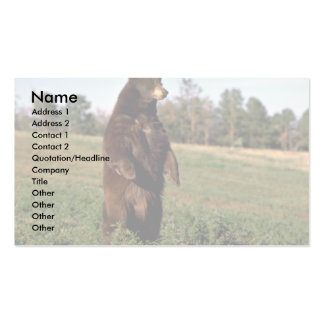 Black Bear standing erect Double-Sided Standard Business Cards (Pack Of 100)