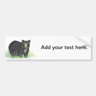 Black bear teddy bear car bumper sticker