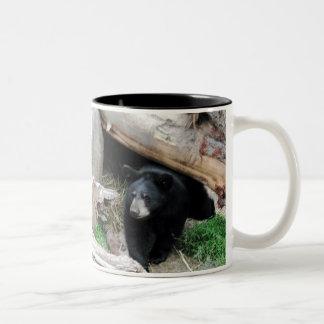 Black Bear Two-Tone Coffee Mug