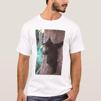 black bear, Ursus americanus, cub in tree, T-Shirt