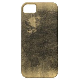 Black Bear Vintage Art #2 iPhone Case