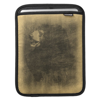 Black Bear Vintage Art iPad sleeve