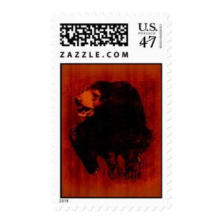 Black Bear Vintage Art Postage
