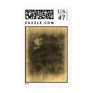 Black Bear Vintage Art Postage