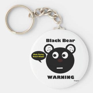 Black Bear Warning Keychain