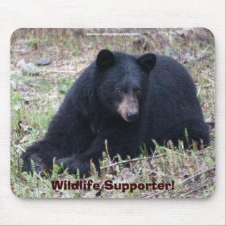 Black Bear Wildlife Design for Animal-lover Mouse Pad