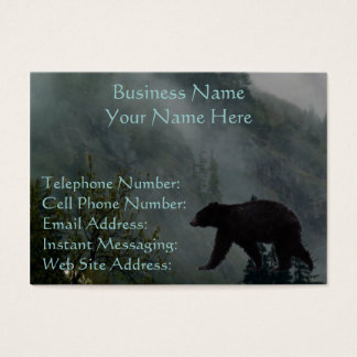 Black Bear Wildlife & Misty Forest Business Cards