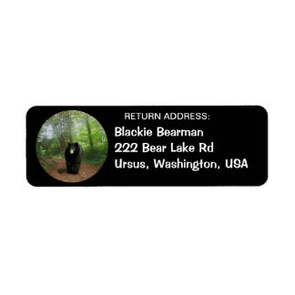 BLACK BEAR Wildlife Return Address Labels