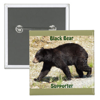BLACK BEAR Wildlife Supporter Button