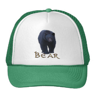 Black Bear Wildlife Supporter Trucker Cap Mesh Hat