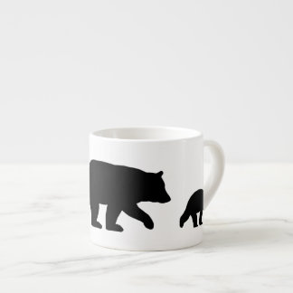 Black Bear with Cubs Espresso Cup