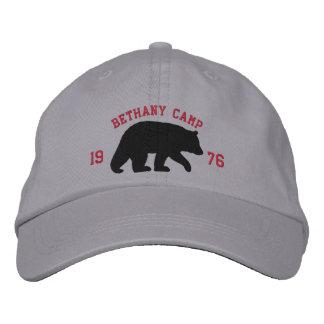 Black Bear with Customizable Text Baseball Cap