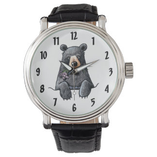 Black Bear Wrist Watch