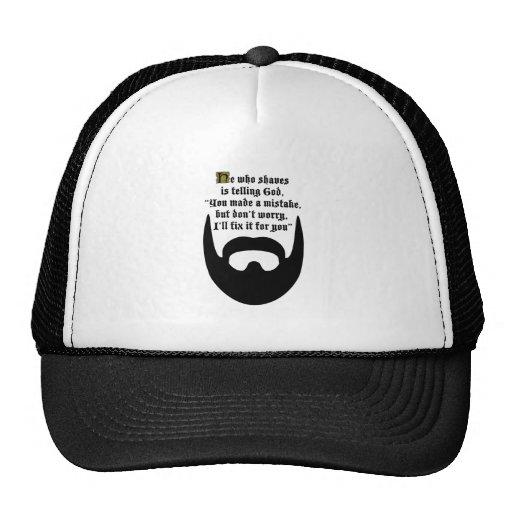 black beard mesh hats
