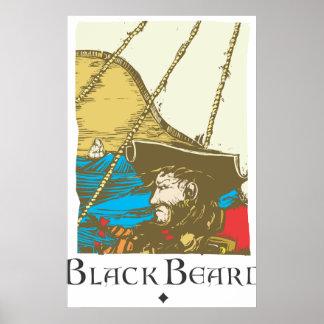 Black Beard Posters