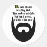 black beard round stickers