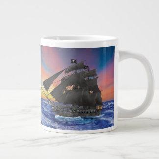 Black Beard's Pirate Ship Large Coffee Mug