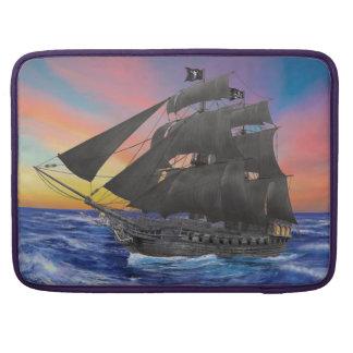 Black Beard's Pirate Ship Sleeve For MacBooks