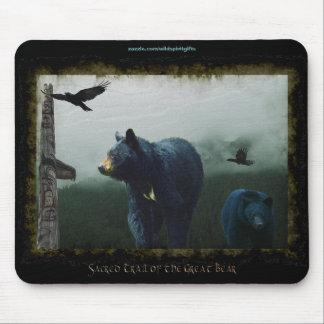 Black Bears, Ravens & Totem-Pole Wildlife Mousepad