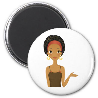 Black beauty 2 inch round magnet