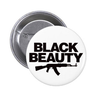 Black Beauty AK - Black Pinback Button