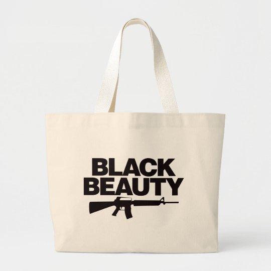 Black Beauty AR - Black Large Tote Bag