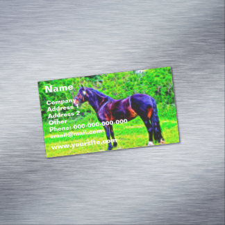 Black Beauty Business Card Magnet