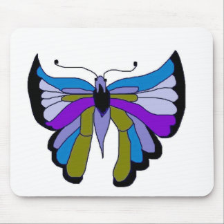 Black Beauty Butterfly in Blue Mouse Pad