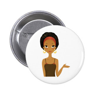 Black beauty 2 inch round button