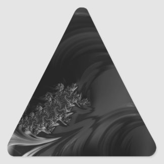 Black Beauty Fractal Art Triangle Sticker