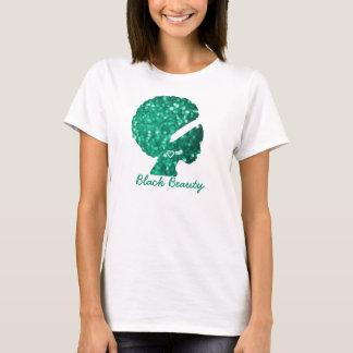 Black Beauty Green Glitter Women's Basic T-Shirt