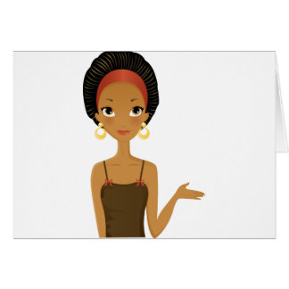 Black beauty greeting card