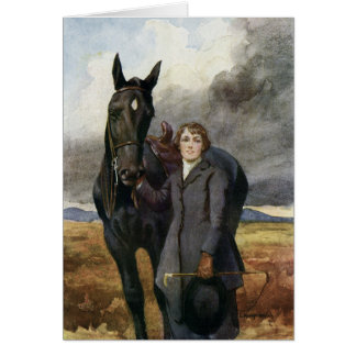 Black Beauty Greeting Card from Sewell book