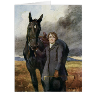 Black Beauty greeting card large from Book