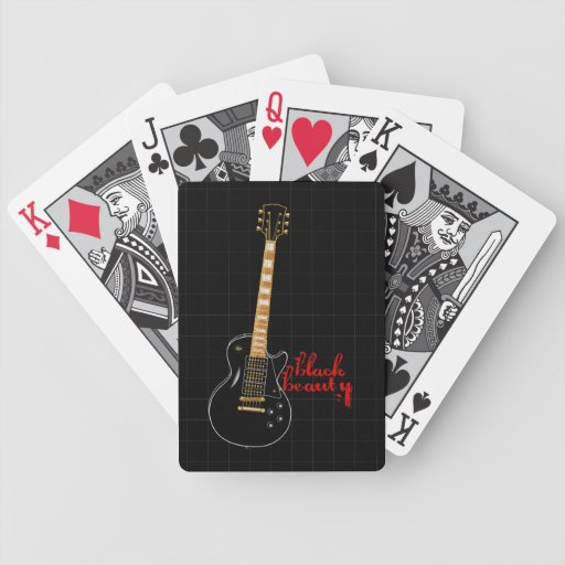 Black Beauty Grunge Electric Guitar Bicycle Playing Cards