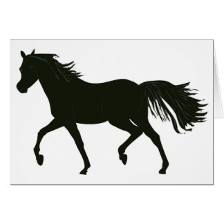 Black Beauty Horse note Card