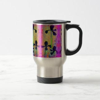Black Beauty Japanese Iris garden by sharles Travel Mug