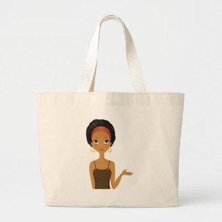 Black beauty large tote bag