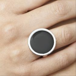 Black Beauty Photo Ring