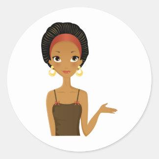 Black beauty classic round sticker