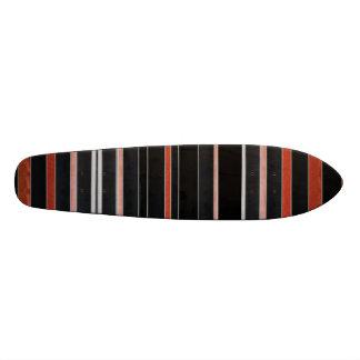 BLACK Beauty Stripes Skateboard Deck
