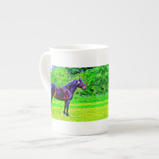 Black Beauty Tea Cup