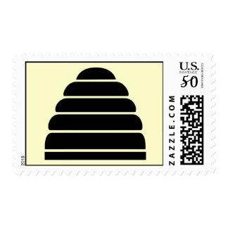 Black Beehive Postage Stamp