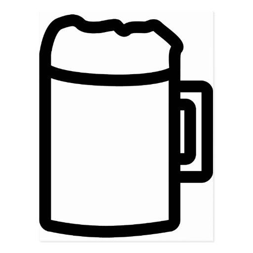 black beer icon postcard