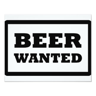 black beer wanted icon card
