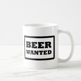 black beer wanted icon coffee mug