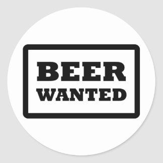 black beer wanted icon stickers