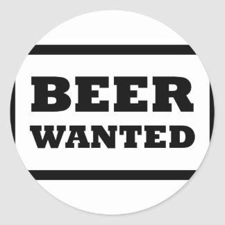 black beer wanted icon sticker