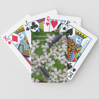 Black Beetles on Putchki Blossoms Bicycle Playing Cards
